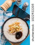 congee and century egg  chinese ... | Shutterstock . vector #1022922205