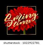 gerbera flower background and... | Shutterstock .eps vector #1022922781