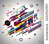 abstract geometric isometric... | Shutterstock .eps vector #1022922907