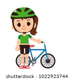 vector female character... | Shutterstock .eps vector #1022923744