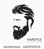 mens hairstyle and hirecut with ... | Shutterstock .eps vector #1022925514