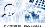 stock quotes as list and graph  ... | Shutterstock . vector #1022926681