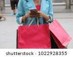 woman business holding shopping