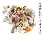 beautiful bouquet in gentle... | Shutterstock . vector #1022928961