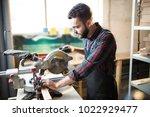 young handsome caucasian... | Shutterstock . vector #1022929477