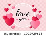 valentine's day   concept of a... | Shutterstock .eps vector #1022929615