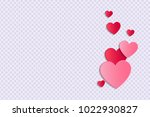 background with paper cut... | Shutterstock .eps vector #1022930827