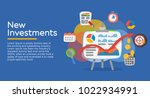 return on investment  roi ... | Shutterstock .eps vector #1022934991