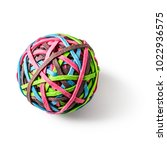 rubber band ball isolated on... | Shutterstock . vector #1022936575