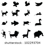 animal silhouettes for zoo ...   Shutterstock .eps vector #102293704