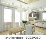 modern interior in big house.... | Shutterstock . vector #10229380