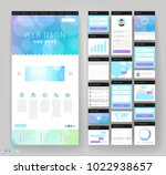 website template design with... | Shutterstock .eps vector #1022938657