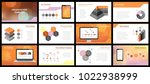 business presentation templates.... | Shutterstock .eps vector #1022938999