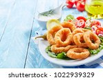 delicious seafood meal of deep... | Shutterstock . vector #1022939329