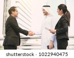 businessman arabic with... | Shutterstock . vector #1022940475