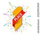 first place  first winner ... | Shutterstock .eps vector #1022941969