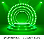 stage podium with lighting ... | Shutterstock .eps vector #1022945191