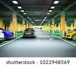 empty modern underground... | Shutterstock . vector #1022948569