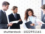 group of business people... | Shutterstock . vector #1022951161