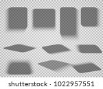 vector shadows isolated. set of ... | Shutterstock .eps vector #1022957551
