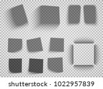 vector shadows isolated. set of ... | Shutterstock .eps vector #1022957839
