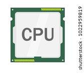 cpu logo vector icon...