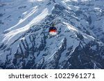 rescue helicopter in annapurna... | Shutterstock . vector #1022961271