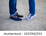 walking lags couple love | Shutterstock . vector #1022962531