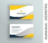 abstract modern yellow business ... | Shutterstock .eps vector #1022967331