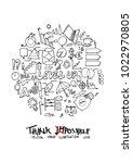 business doodle illustration...   Shutterstock .eps vector #1022970805