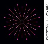 fireworks with bursting sparks. ...   Shutterstock .eps vector #1022971084