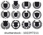 medieval shields and laurel... | Shutterstock .eps vector #102297211