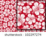 Seamless Floral Pattern Whit...