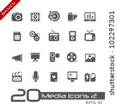 multimedia icons    basics | Shutterstock .eps vector #102297301