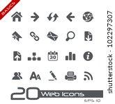 web icons    basics | Shutterstock .eps vector #102297307