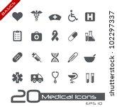 medical icons    basics | Shutterstock .eps vector #102297337