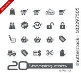 shopping icons    basics | Shutterstock .eps vector #102297505
