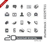 social icons    basics | Shutterstock .eps vector #102297511