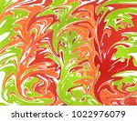 abstract red  green and orange... | Shutterstock . vector #1022976079