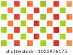watercolor red  green and... | Shutterstock . vector #1022976175