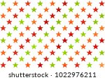 watercolor pattern with red ... | Shutterstock . vector #1022976211