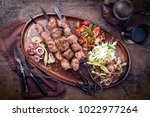 traditional turkish lamb kebab... | Shutterstock . vector #1022977264