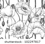 seamless pattern of black and... | Shutterstock .eps vector #102297817