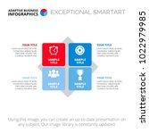 diagram infographic template | Shutterstock .eps vector #1022979985