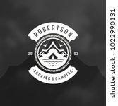mountains logo emblem vector... | Shutterstock .eps vector #1022990131