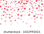 heart pattern for valentine... | Shutterstock .eps vector #1022992021