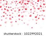 heart pattern for valentine... | Shutterstock .eps vector #1022992021