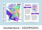 vector template for portfolio.... | Shutterstock .eps vector #1022992051
