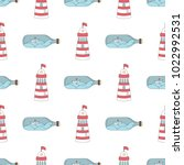 navy vector seamless patterns....   Shutterstock .eps vector #1022992531