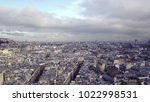 aerial view of eiffel tower in...   Shutterstock . vector #1022998531